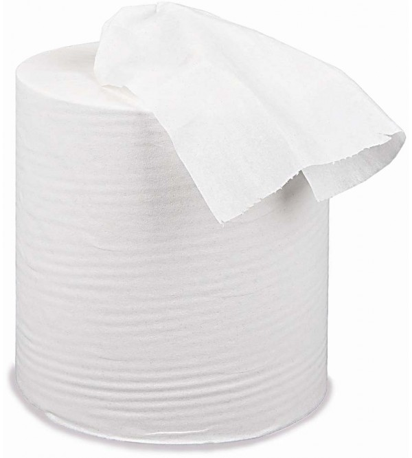 1 Ply White Centrefeed Paper Towel (pack of 12)