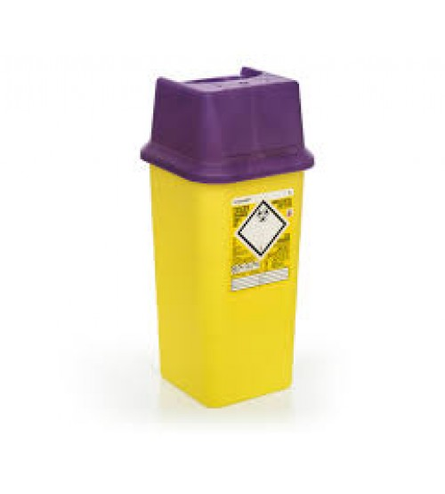 Cytotoxic Sharps Bins  (PURPLE LIDS)