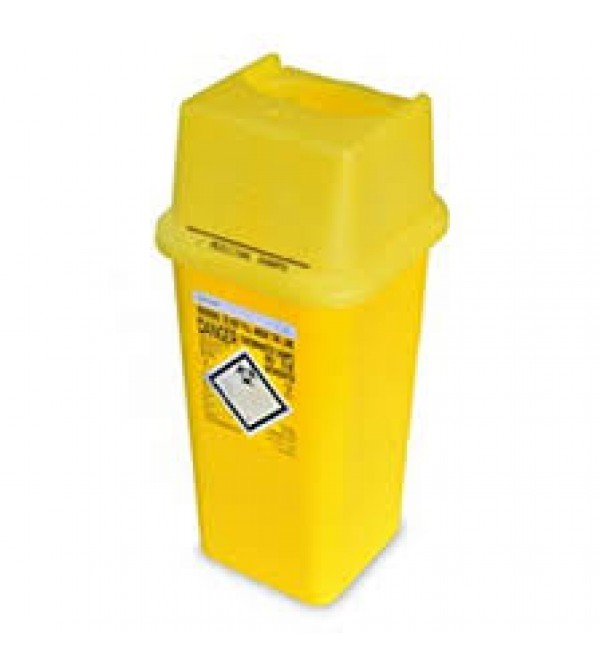 Sharps Bins, contaminated (YELLOW LIDS)